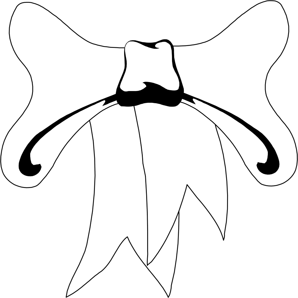 Illustration of a white bow : Free Stock Photo