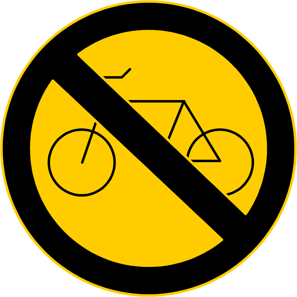 Illustration of a no bikes warning sign : Free Stock Photo