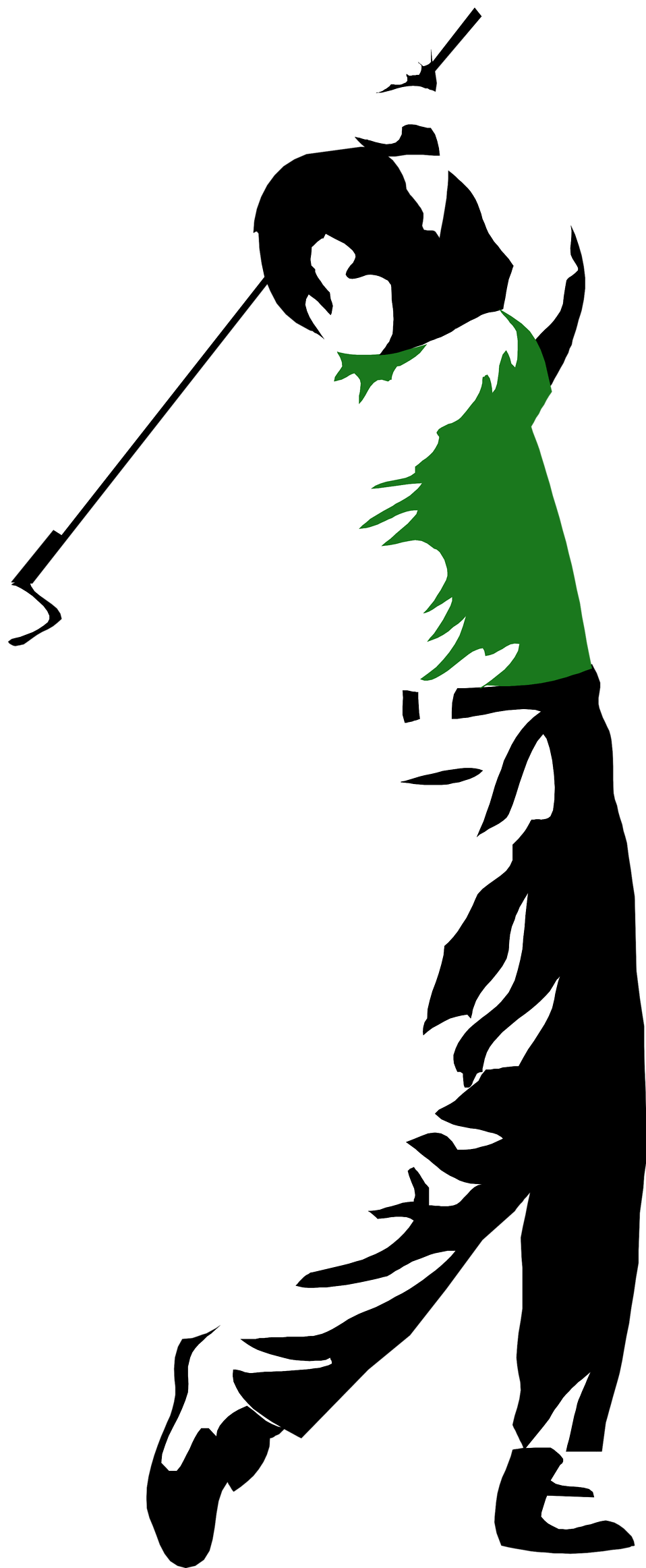 Illustration of a man swinging a golf club : Free Stock Photo