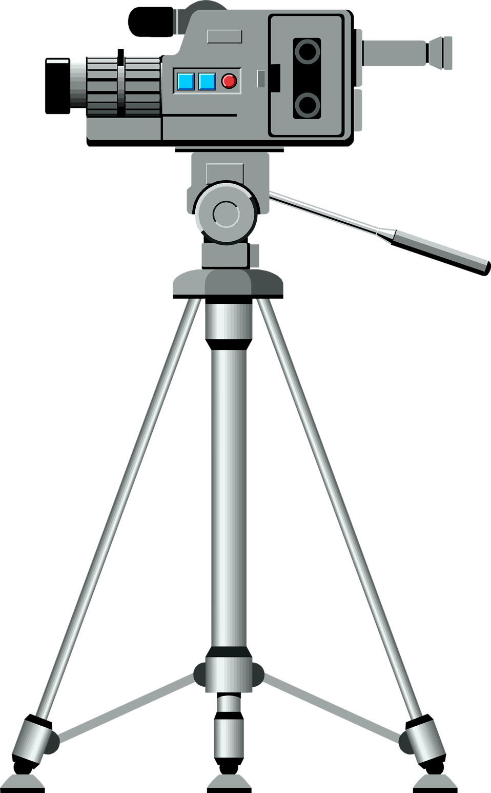 Illustration of a video camera on a tripod : Free Stock Photo