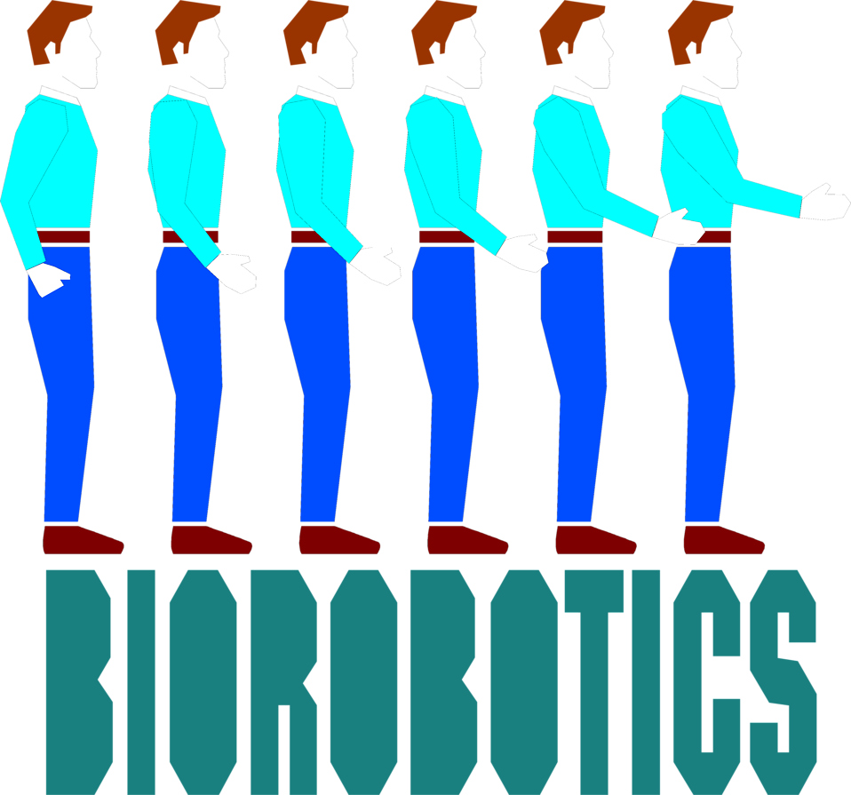 Illustration of a group of men and biorobotics text : Free Stock Photo