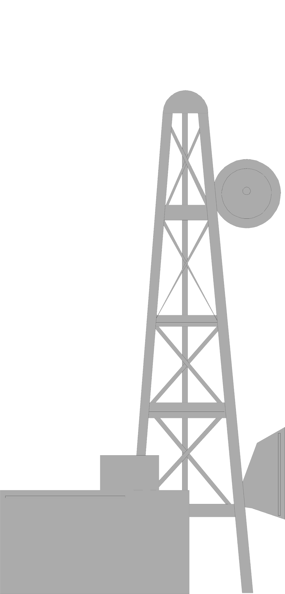 Illustration of a gray microwave tower : Free Stock Photo