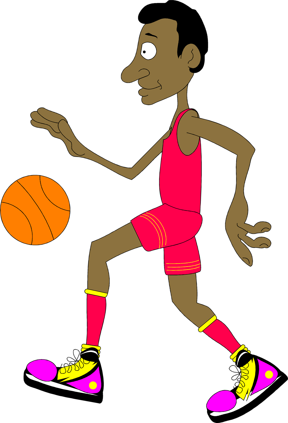 Illustration of a basketball player : Free Stock Photo
