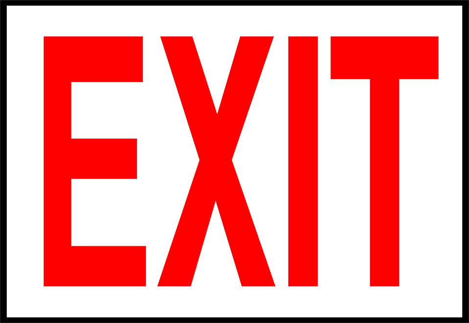 Illustration of an exit sign : Free Stock Photo