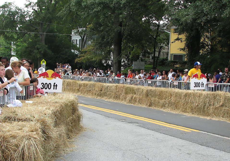 Spectators along the race track at the 2009 Red Bull Soap Box Derby in Atlanta, Georgia : Free Stock Photo
