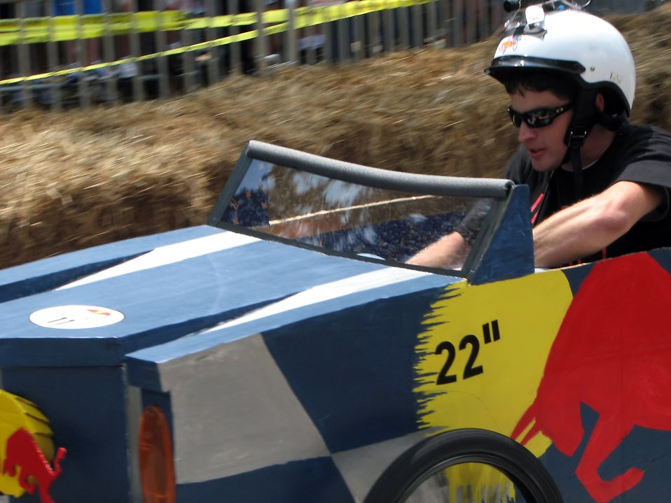 A race car at the 2009 Red Bull Soap Box Derby in Atlanta, Georgia.
