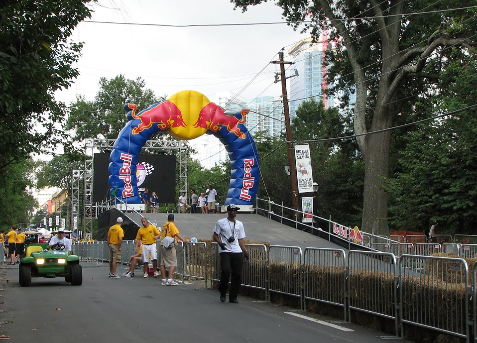Race starting gate at the 2009 Red Bull Soap Box Derby in Atlanta, Georgia : Free Stock Photo