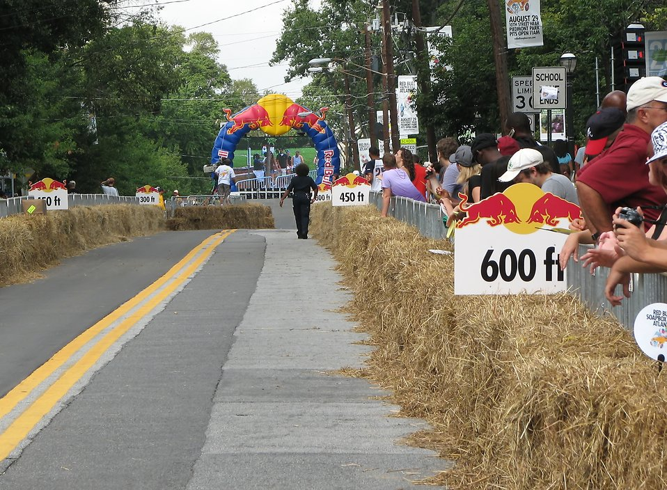 Race track at the 2009 Red Bull Soap Box Derby in Atlanta, Georgia.