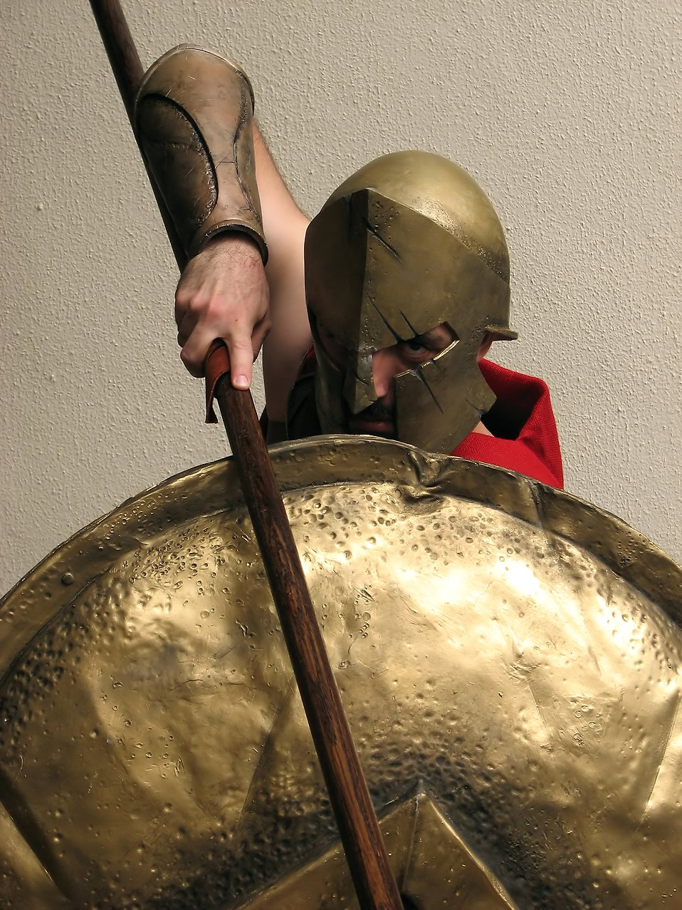 A man in Spartan armor costume at Dragoncon 2009 in Atlanta, Georgia : Free Stock Photo