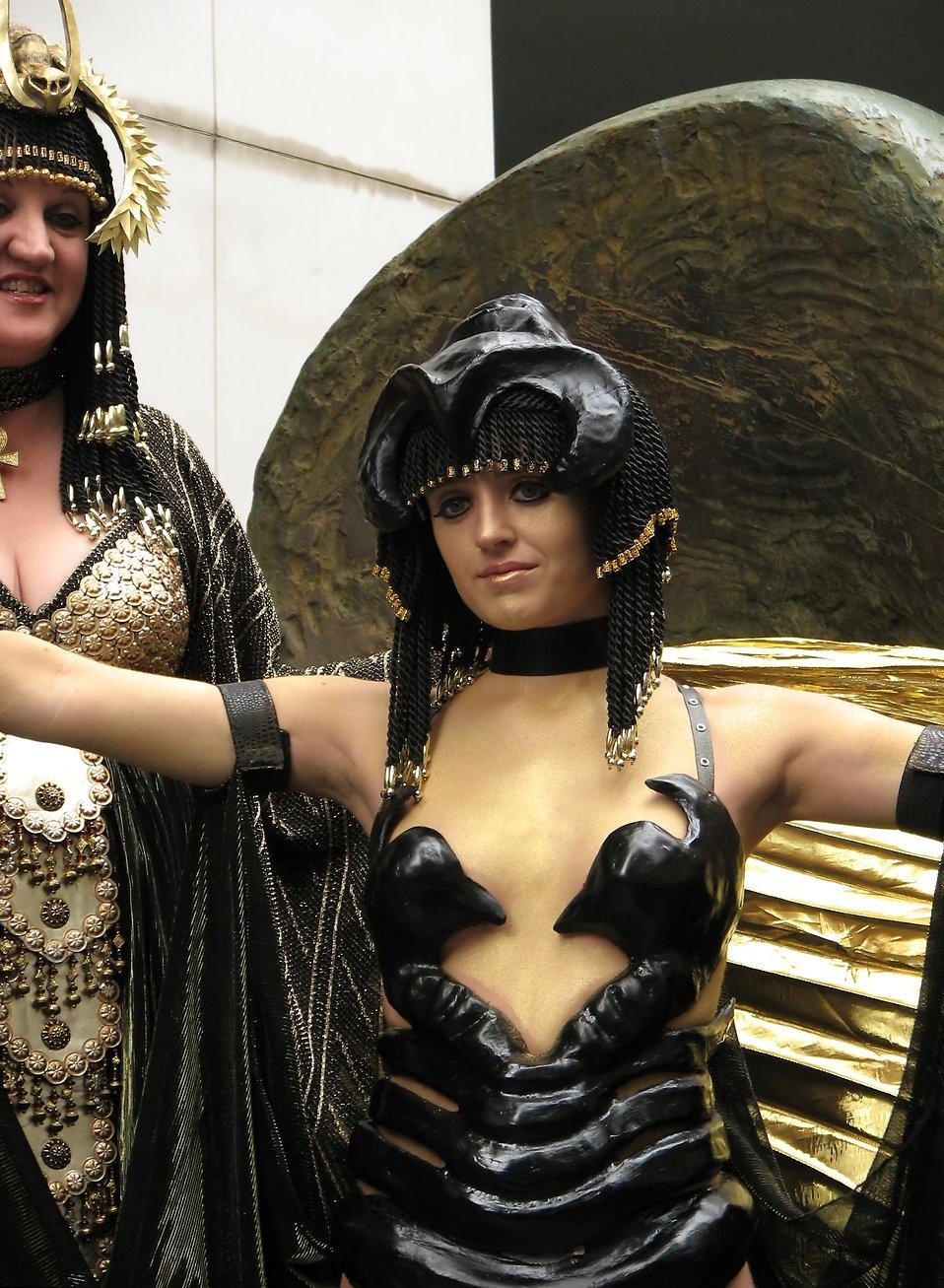 A beautiful girl in an Egyptian costume at Dragoncon 2009 in Atlanta, Georgia : Free Stock Photo