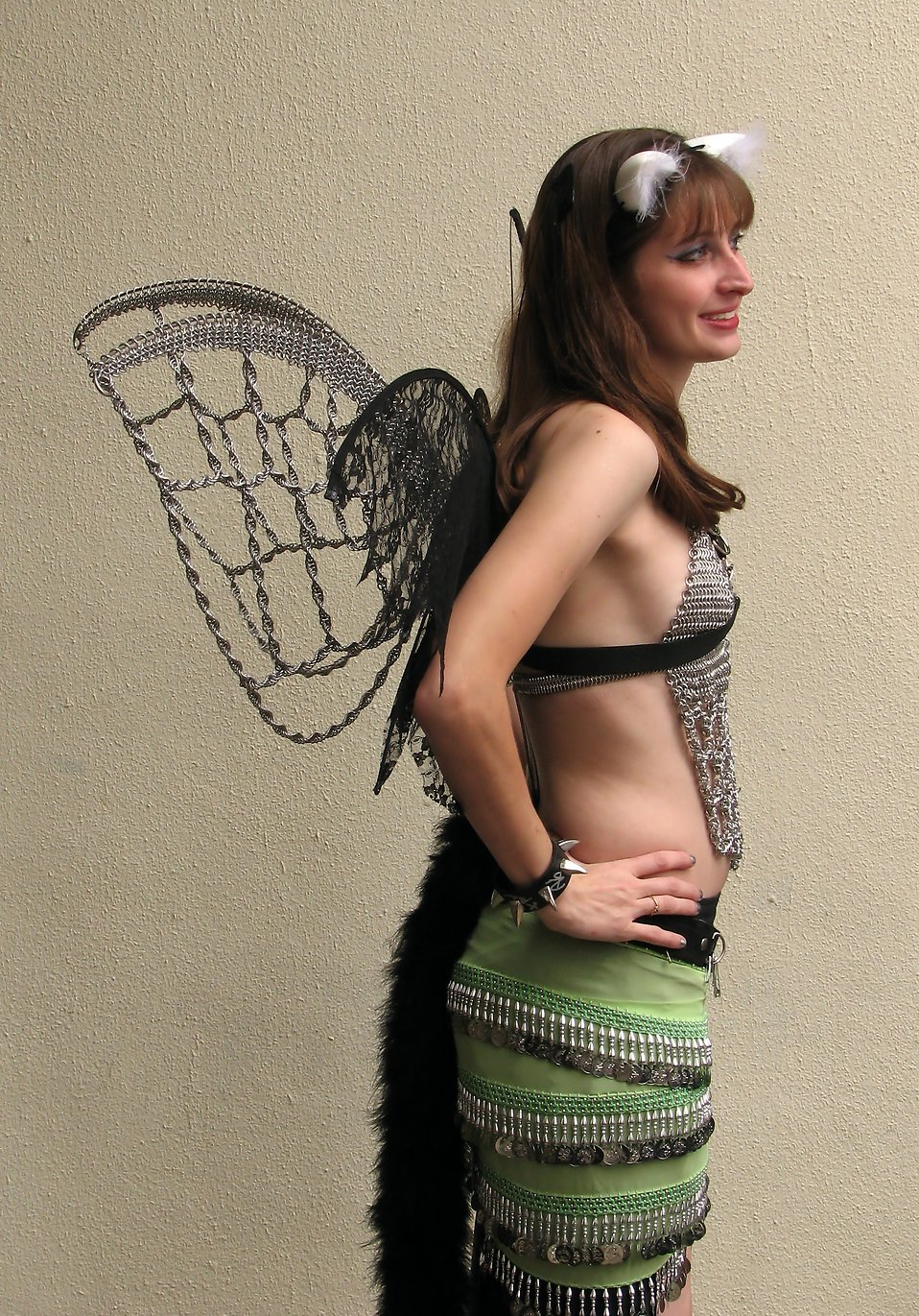 A beautiful girl in a fairy cat costume at Dragoncon 2009 in Atlanta, Georgia : Free Stock Photo