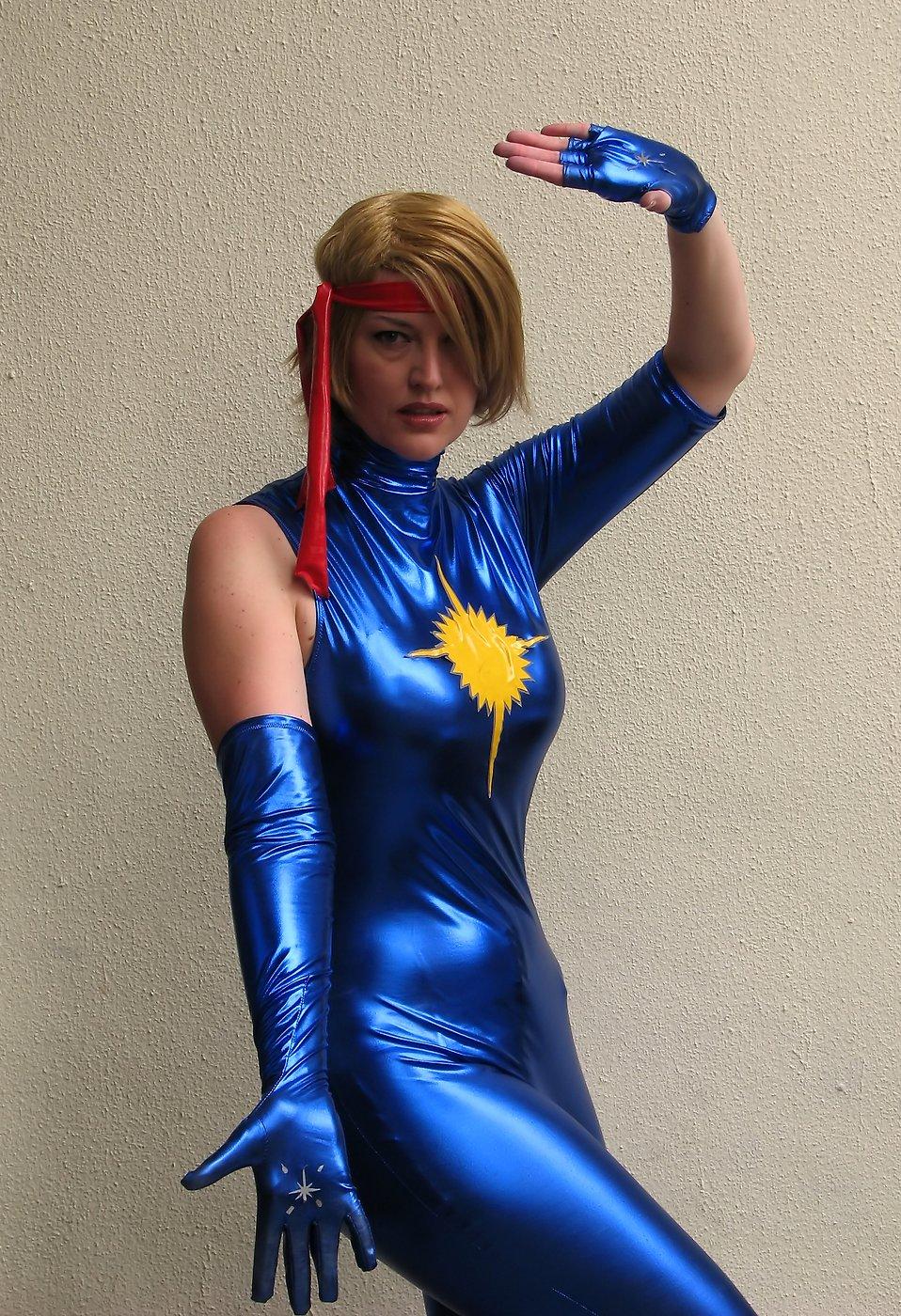 A beautiful woman in a blue costume at Dragoncon 2009 in Atlanta, Georgia : Free Stock Photo
