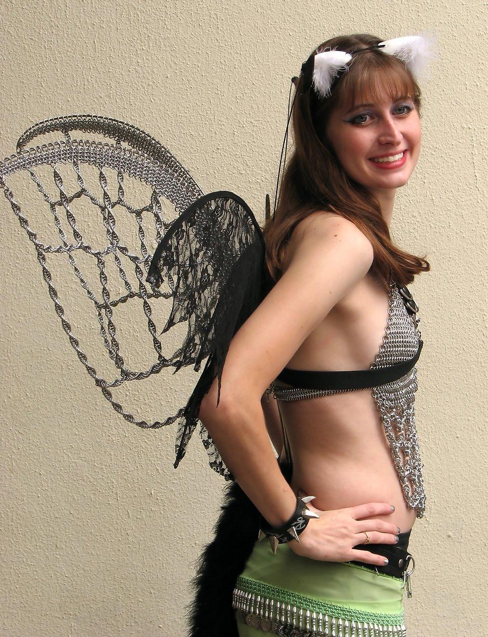 A beautiful girl in a fairy cat costume at Dragoncon 2009 in Atlanta, Georgia : Free Stock Photo