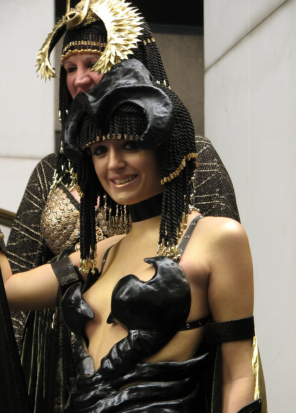 A beautiful girl in an Egyptian costume at Dragoncon 2009 in Atlanta, Georgia : Free Stock Photo