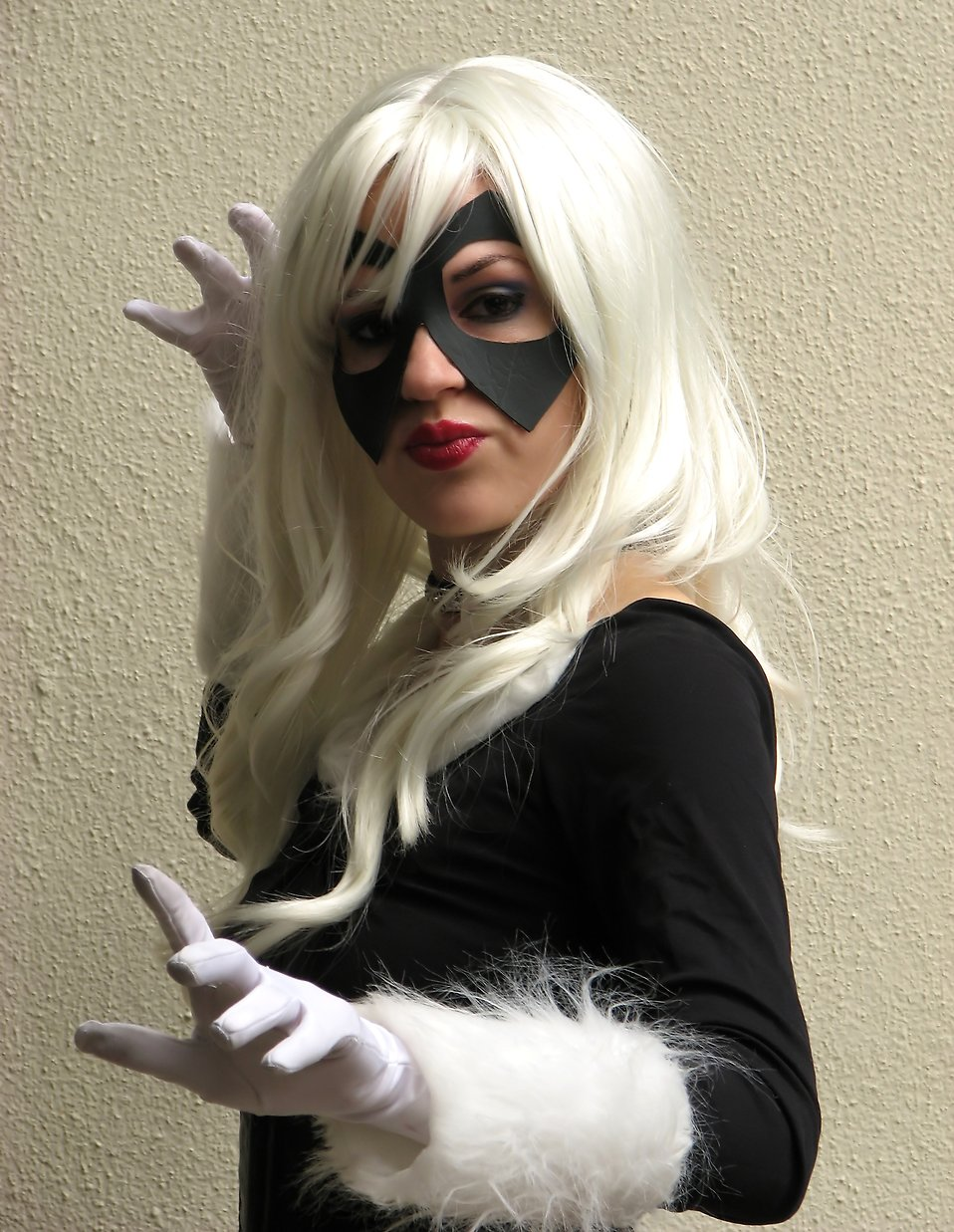 A beautiful girl in a Black Cat costume at Dragoncon 2009 in Atlanta, Georgia : Free Stock Photo