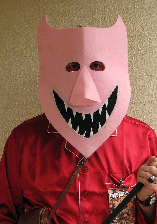 A man in a devil mask at Dragoncon 2009 in Atlanta, Georgia : Free Stock Photo