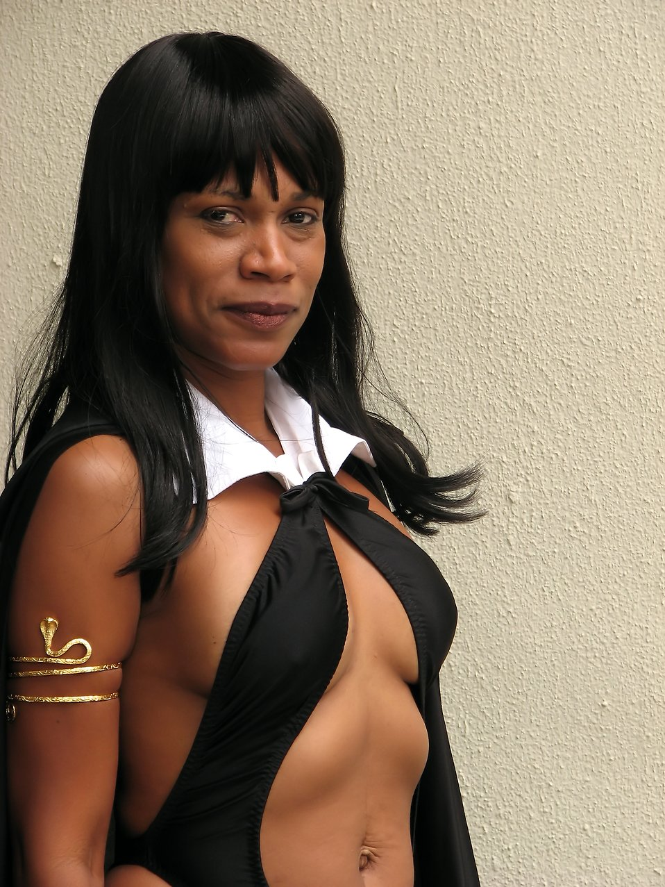 A beautiful African American woman in a vampire costume at Dragoncon 2009 in Atlanta, Georgia : Free Stock Photo