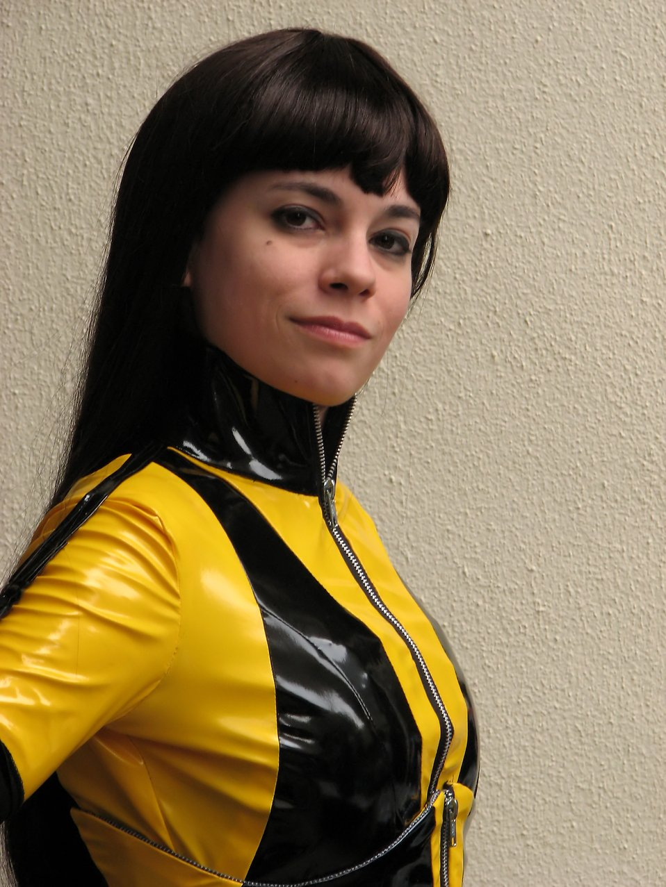A beautiful woman in a Silk Spectre costume at Dragoncon 2009 in Atlanta, Georgia : Free Stock Photo