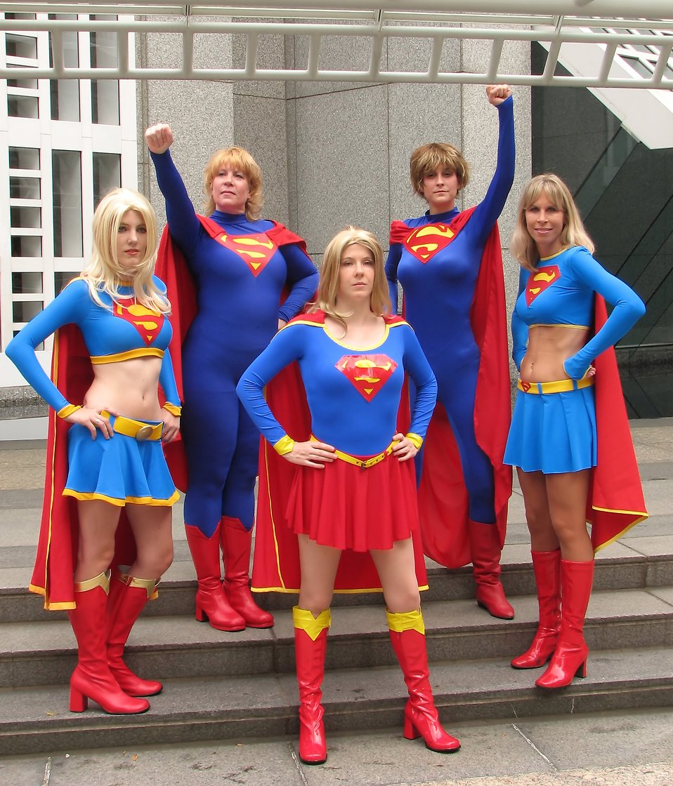 A group of women in Supergirl costumes at Dragoncon 2009 in Atlanta Georgia  Free ?  sc 1 st  FreeStockPhotos.biz & Supergirl | Free Stock Photo | A group of women in Supergirl ...