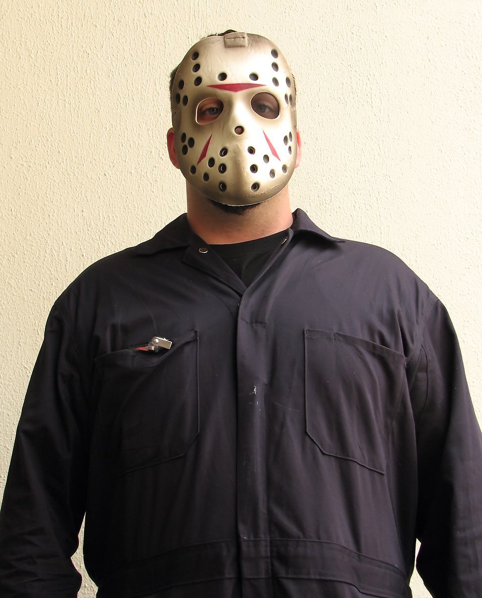 A man in a hockey mask costume at Dragoncon 2009 in Atlanta, Georgia : Free Stock Photo