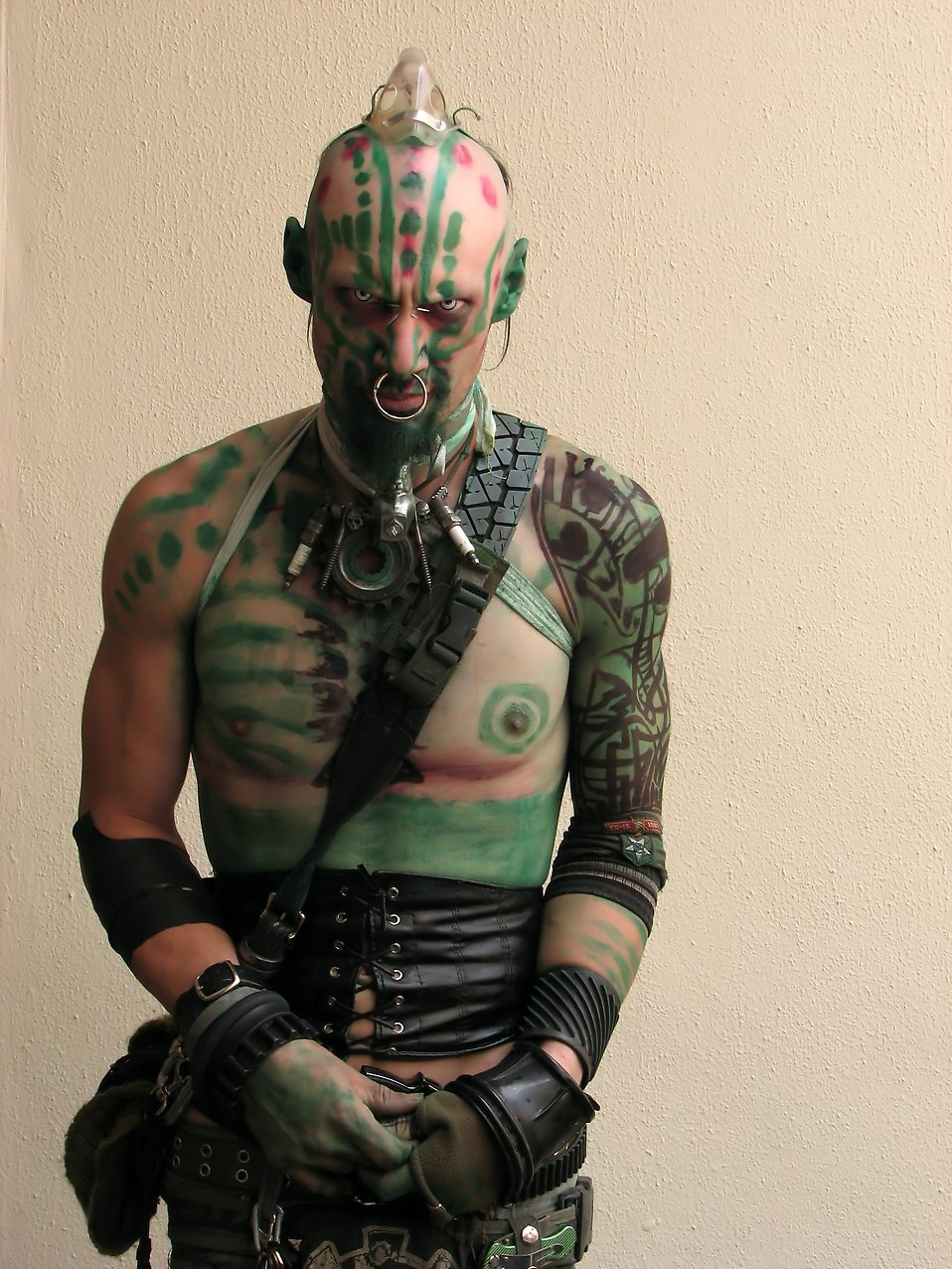 A man with piercings and a costume at Dragoncon 2009 in Atlanta, Georgia : Free Stock Photo