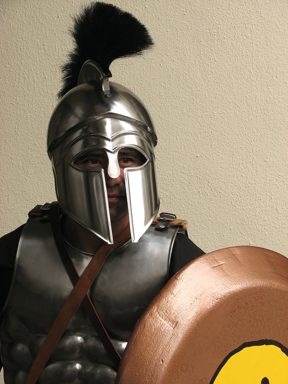 A man with a Spartan armor costume at Dragoncon 2009 in Atlanta, Georgia : Free Stock Photo