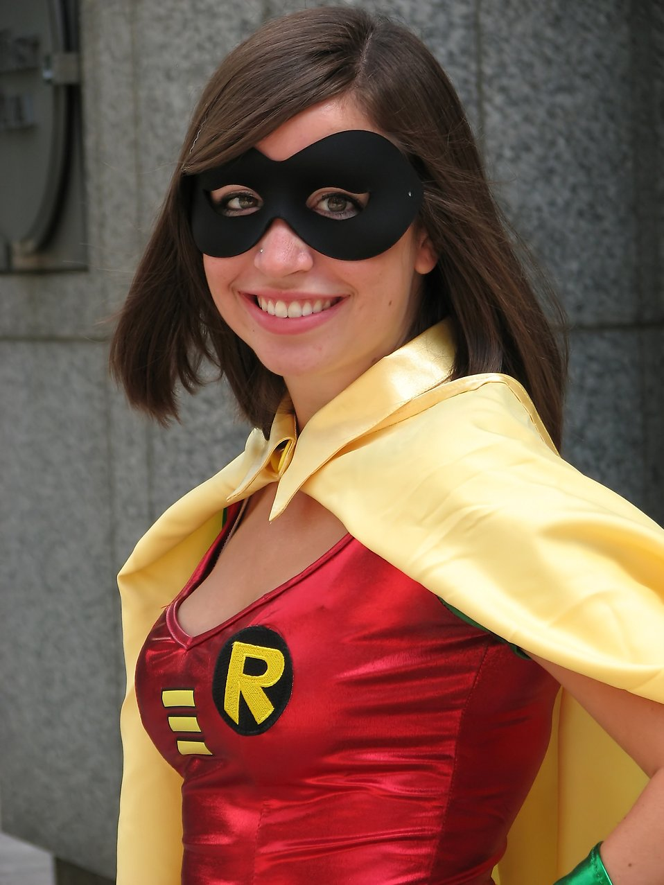 A beautiful girl in a Robin costume at Dragoncon 2009 in Atlanta, Georgia : Free Stock Photo