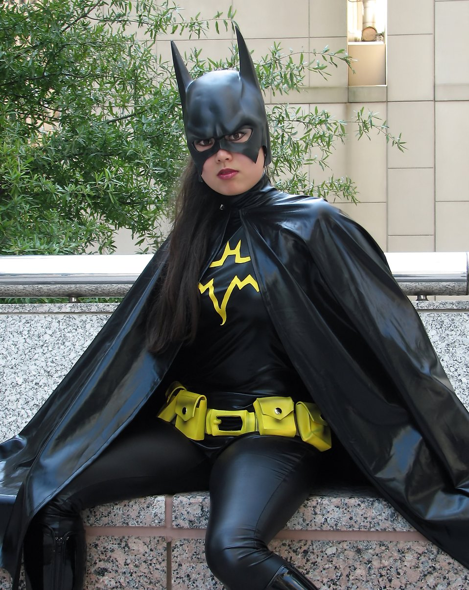 A beautiful woman in a Batgirl costume at Dragoncon 2009 in Atlanta, Georgia : Free Stock Photo