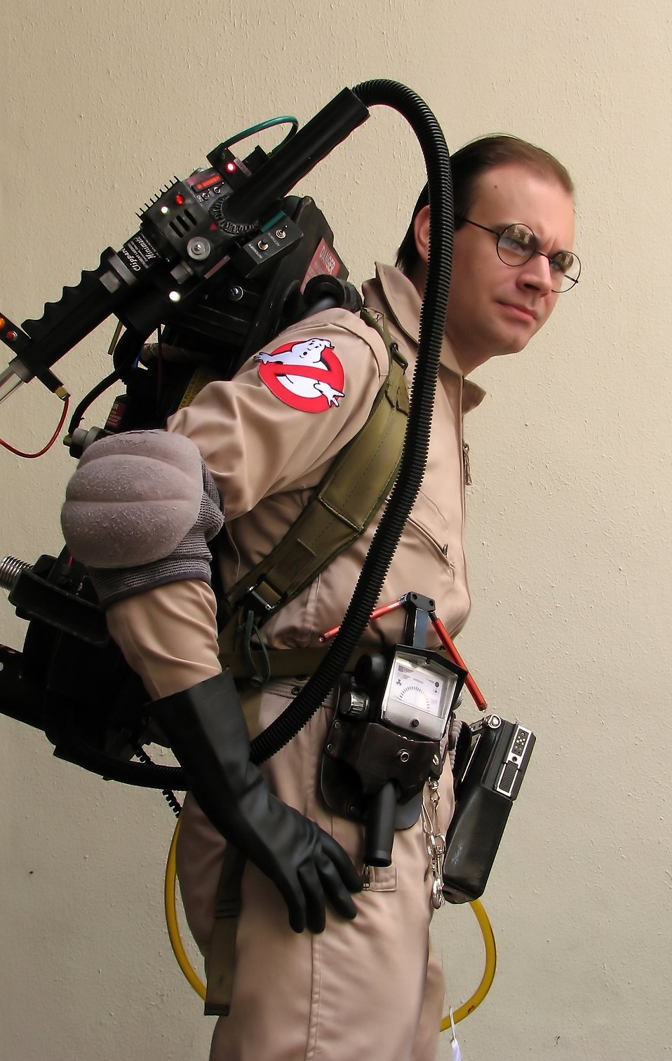 A man in a Ghostbusters costume at Dragoncon 2009 in Atlanta, Georgia : Free Stock Photo