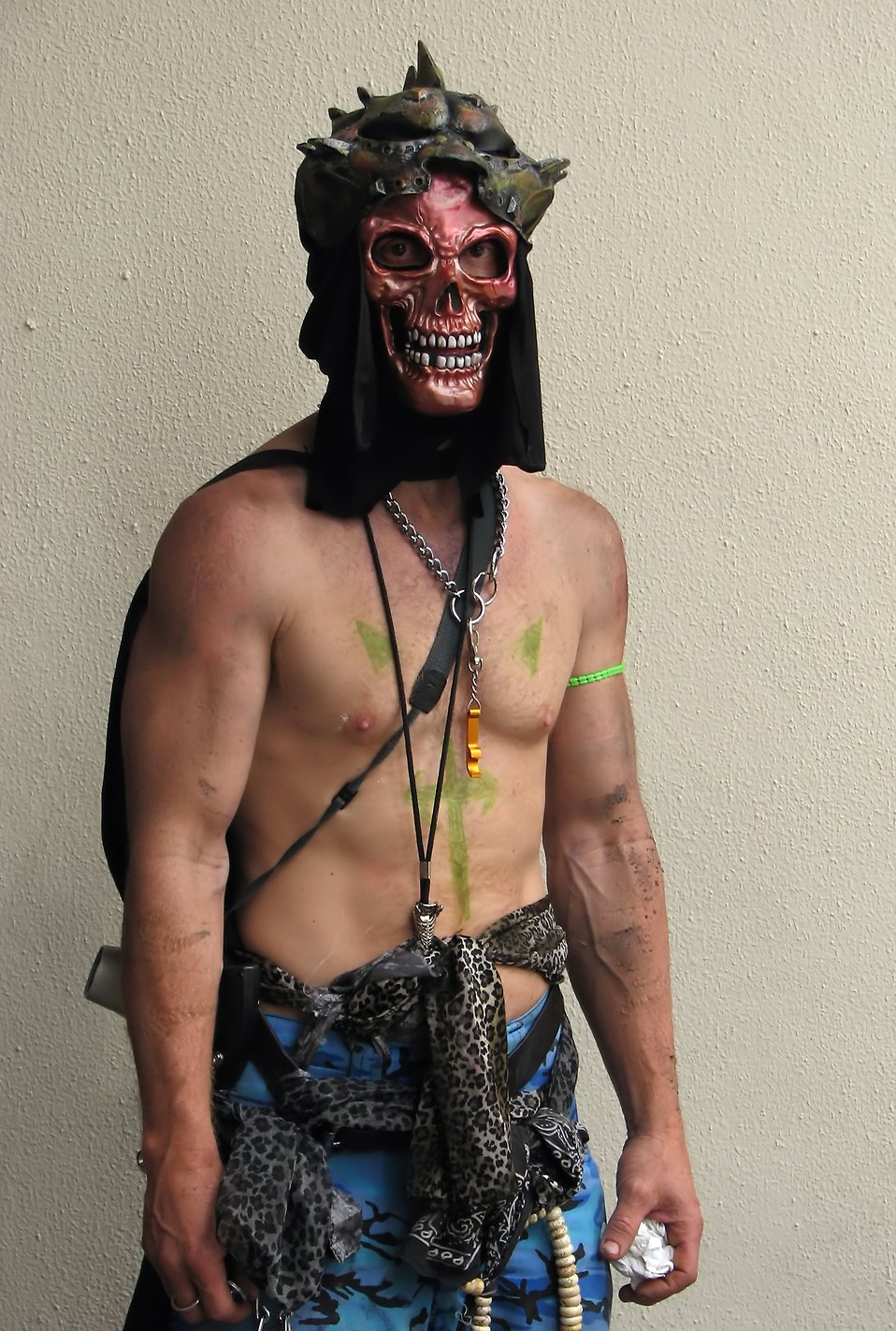 A man in a skull mask and costume at Dragoncon 2009 in Atlanta, Georgia : Free Stock Photo