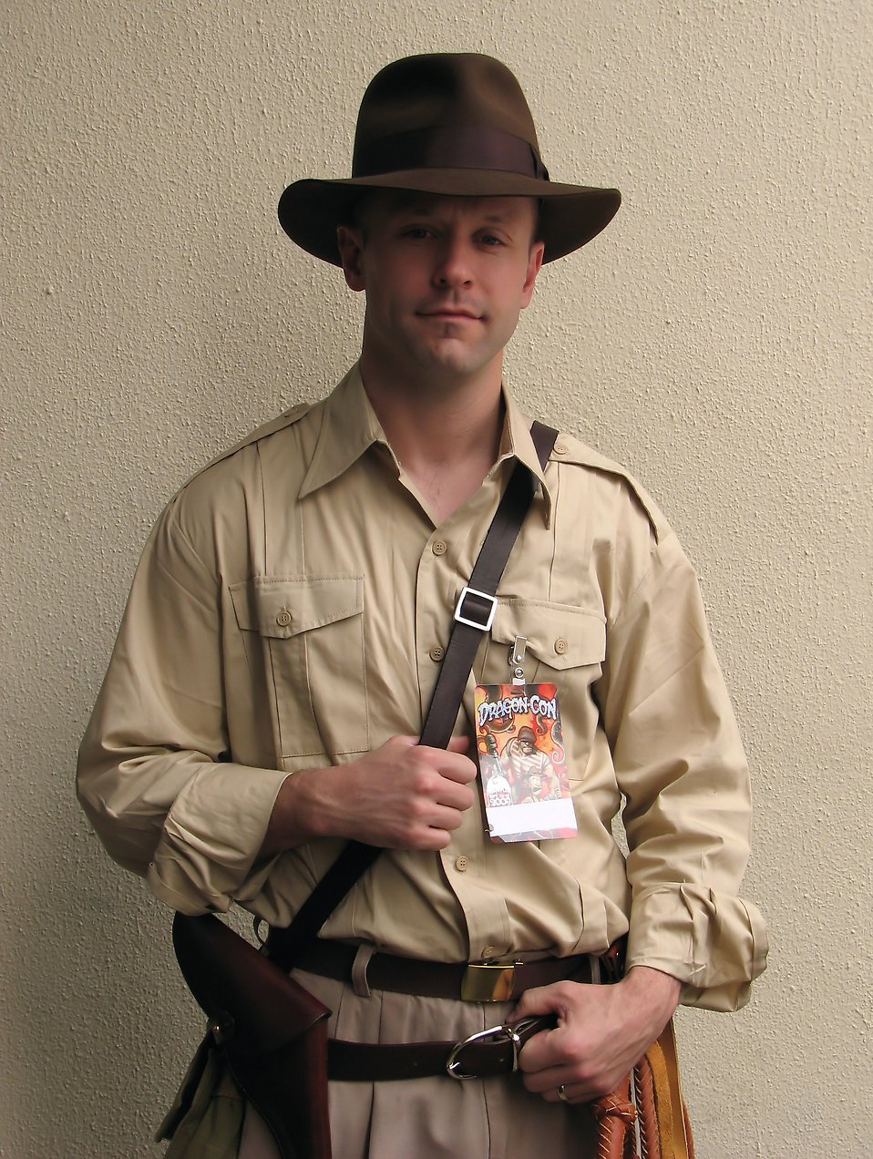 A man in an Indiana Jones costume at Dragoncon 2009 in Atlanta, Georgia : Free Stock Photo