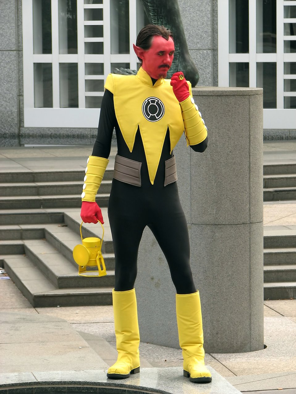 A man in a Yellow Lantern costume at Dragoncon 2009 in Atlanta, Georgia : Free Stock Photo