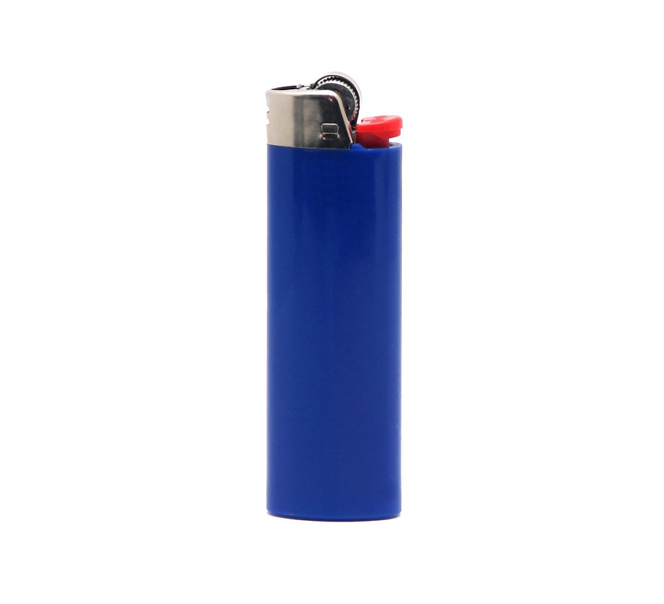 A blue lighter isolated on a white background : Free Stock Photo
