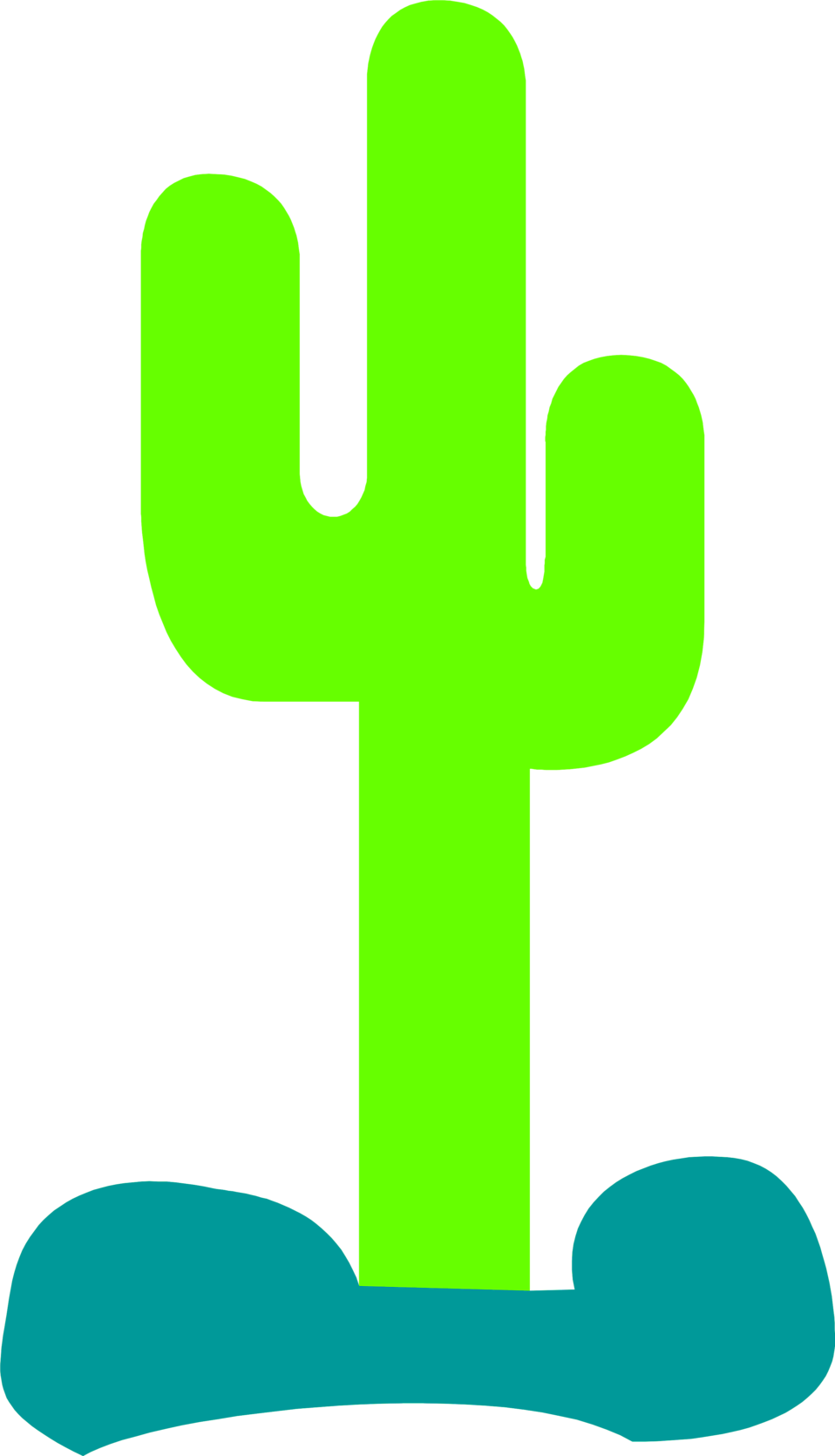 Illustration of a tall green cactus : Free Stock Photo