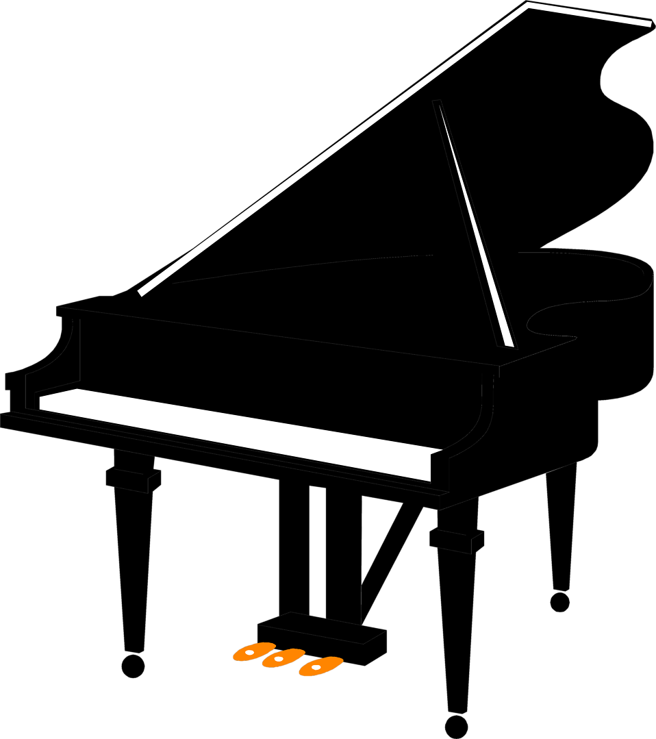 Illustration of a grand piano : Free Stock Photo