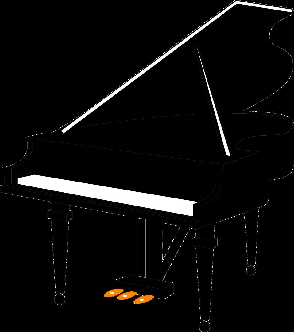 Piano | Free Stock Photo | Illustration of a grand piano | # 8899