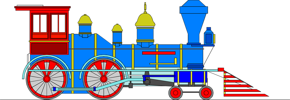 Illustration of a steam locomotive train : Free Stock Photo