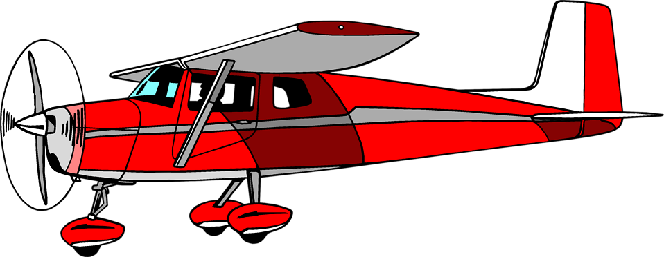 Illustration of a red cessna airplane : Free Stock Photo