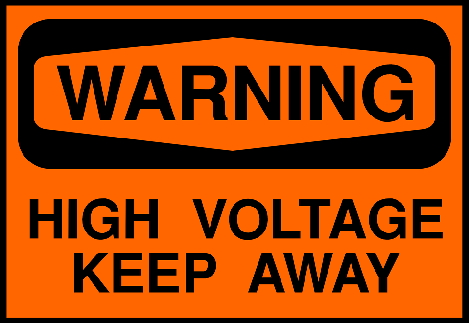 Illustration of a high voltage warning sign : Free Stock Photo