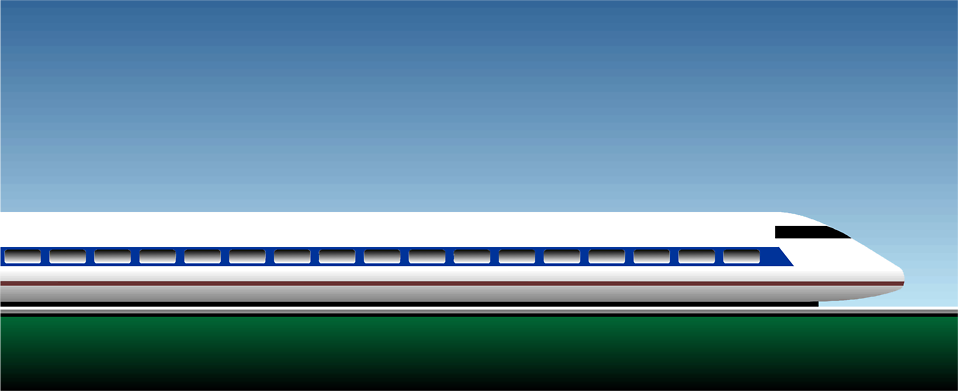 Illustration of a bullet train : Free Stock Photo
