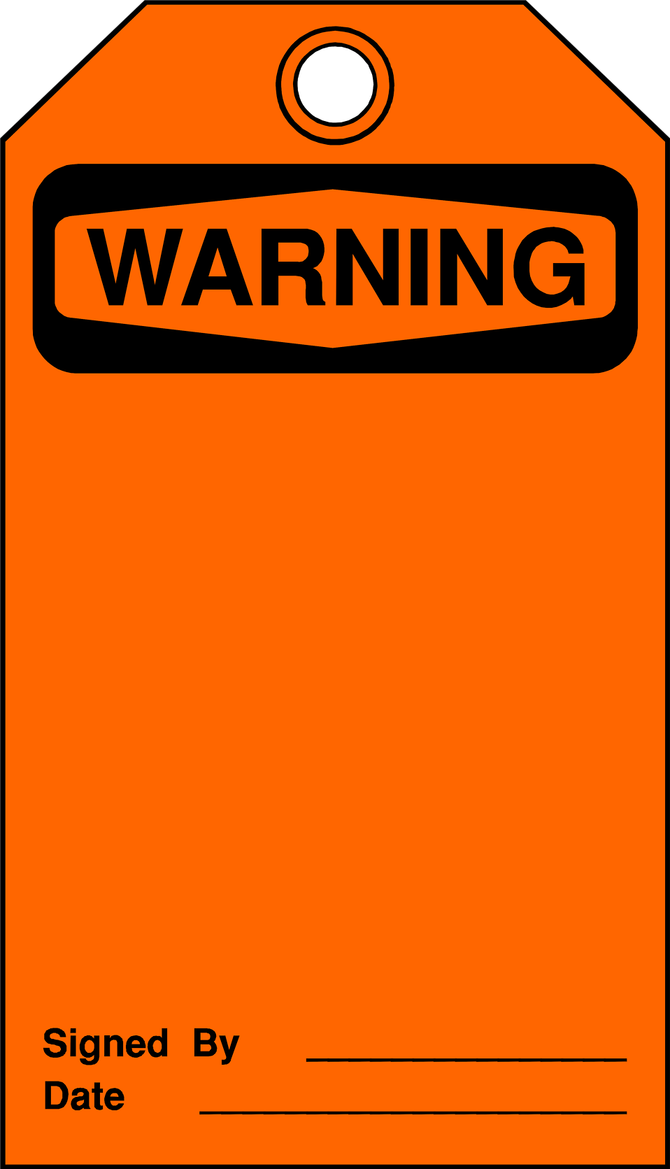 Illustration of a blank warning tag : Free Stock Photo