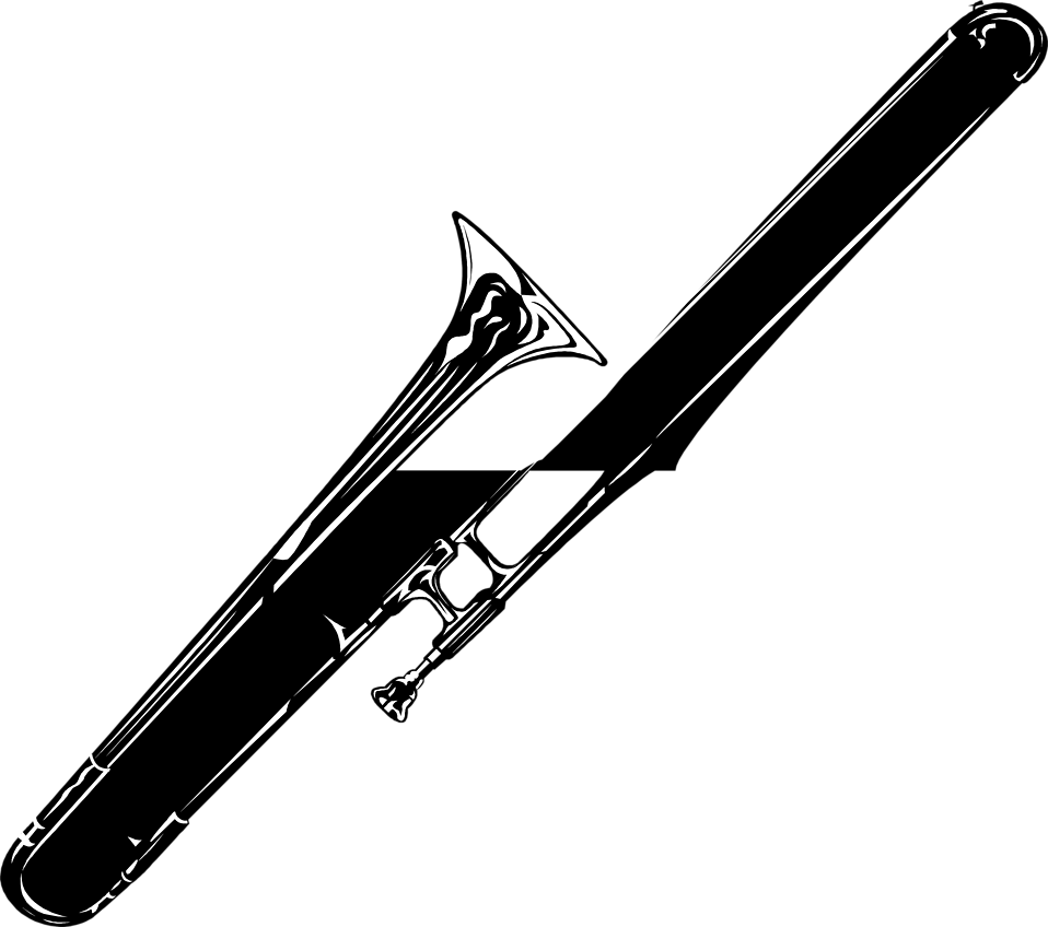 Illustration of a trombone : Free Stock Photo