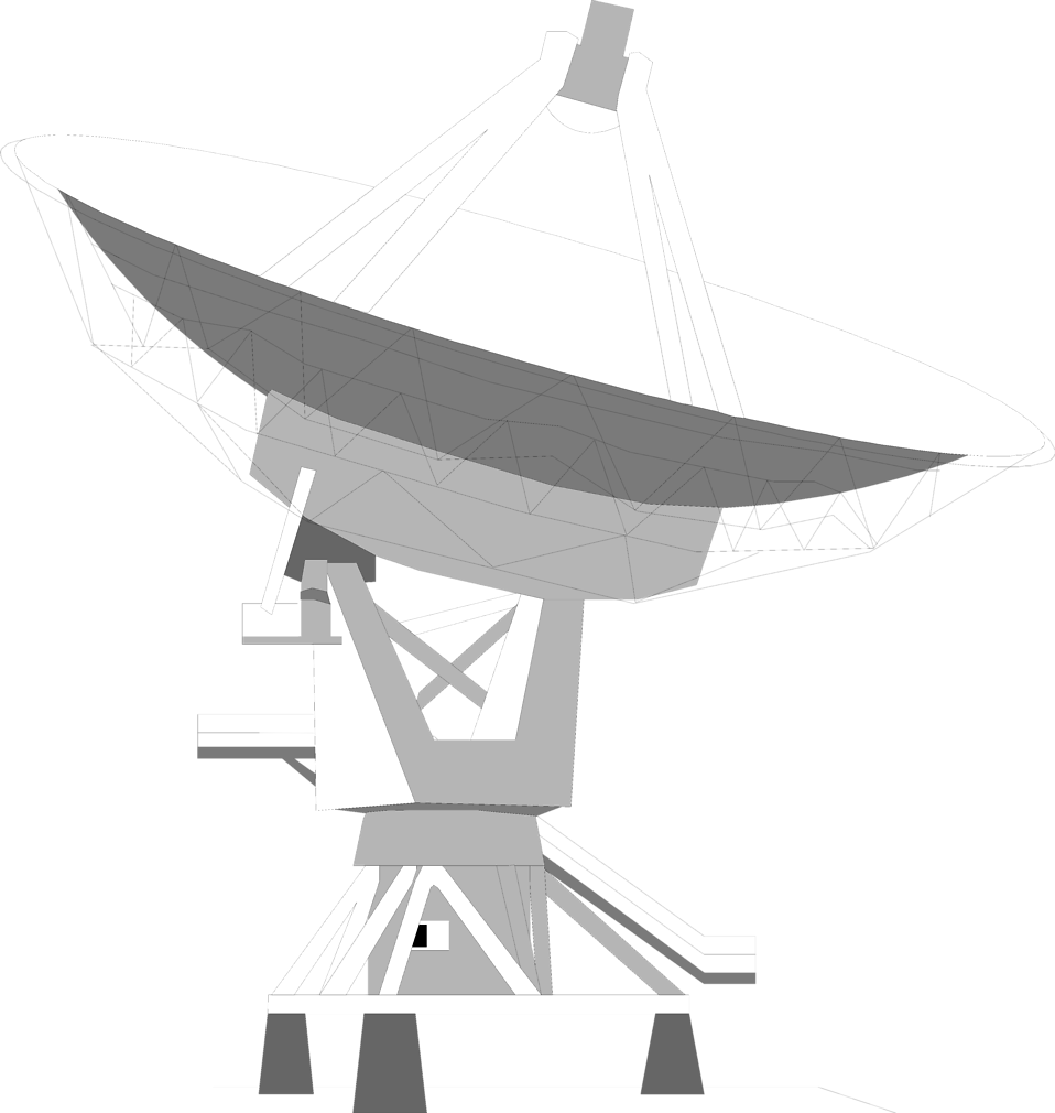 Illustration of a satellite dish : Free Stock Photo