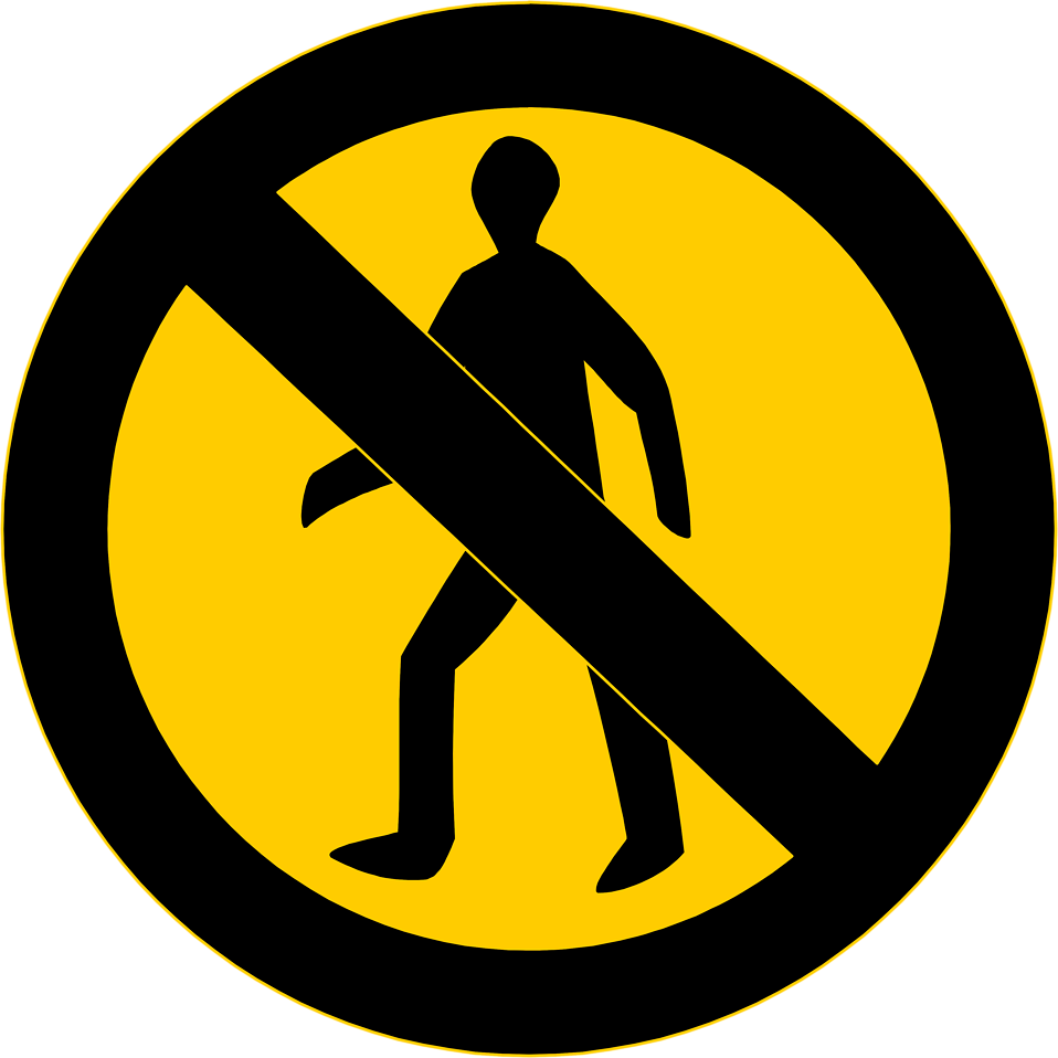 Illustration of a no entry sign : Free Stock Photo