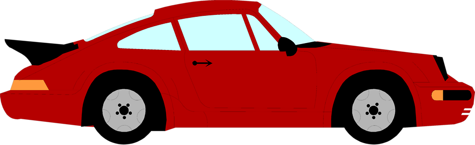 Illustration of a red sports car : Free Stock Photo
