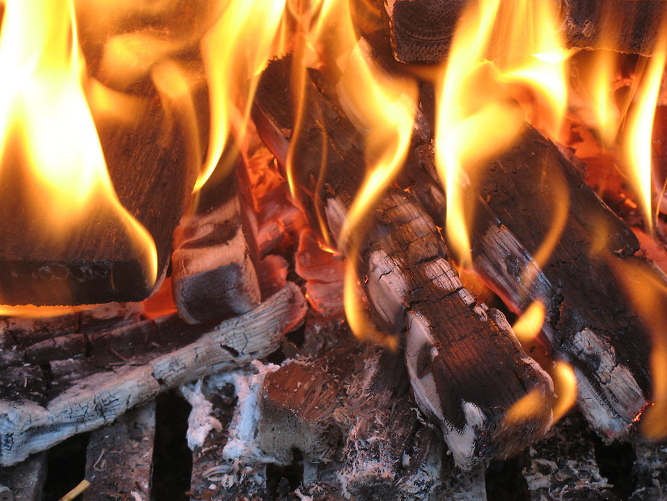 Close-up of a fire : Free Stock Photo