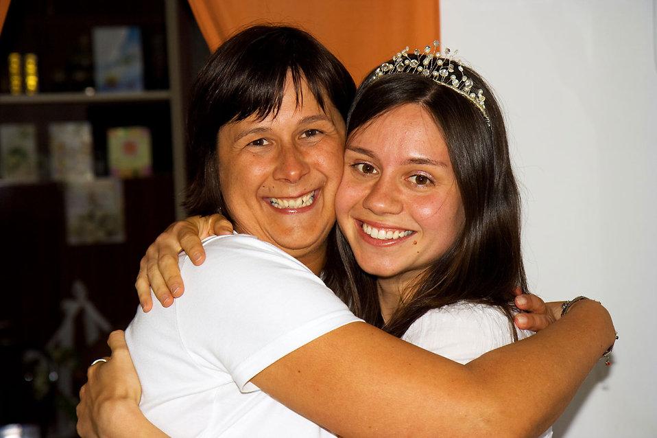 Two women hugging : Free Stock Photo