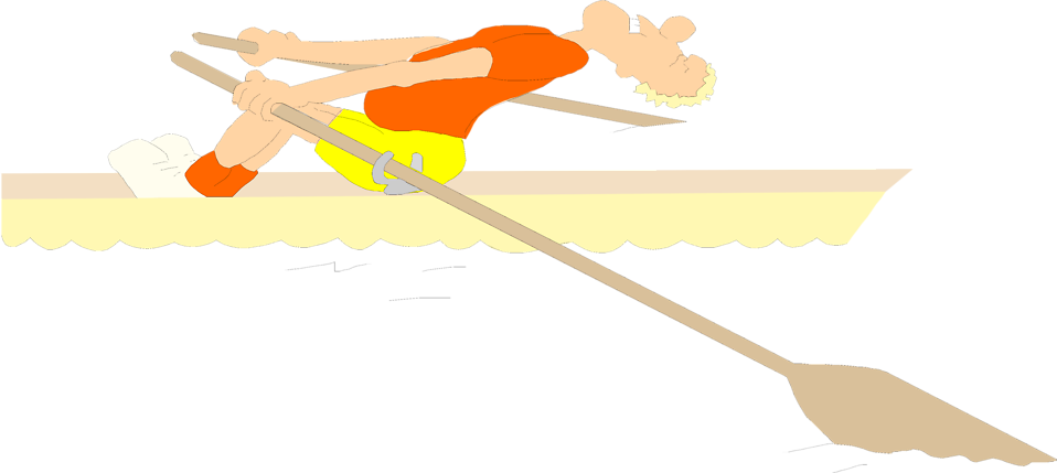 Illustration of a man rowing a boat : Free Stock Photo