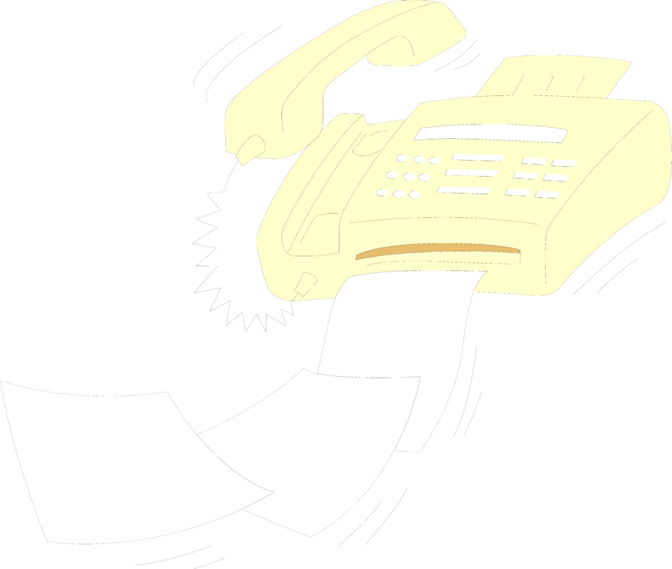 Illustration of a fax machine spitting out paper : Free Stock Photo
