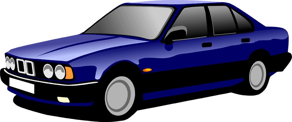 Illustration of a blue sedan : Free Stock Photo